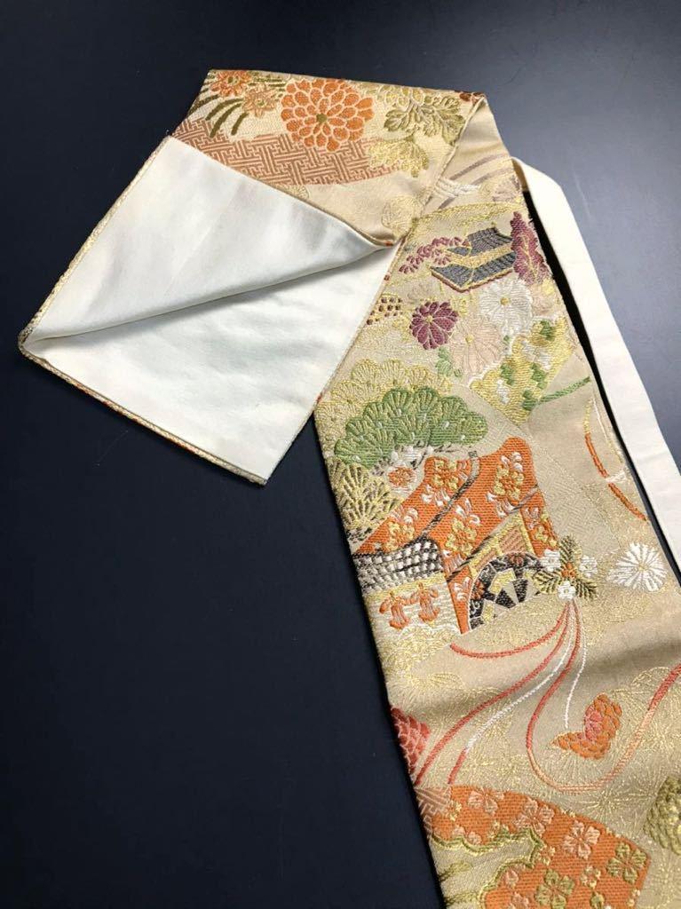 限定4本 日本刀 太刀 刀 刀袋 豪華 飛鶴華紋 御所車紋 職人ハンドメイド 100%正絹使用 一点物 E-12_画像5