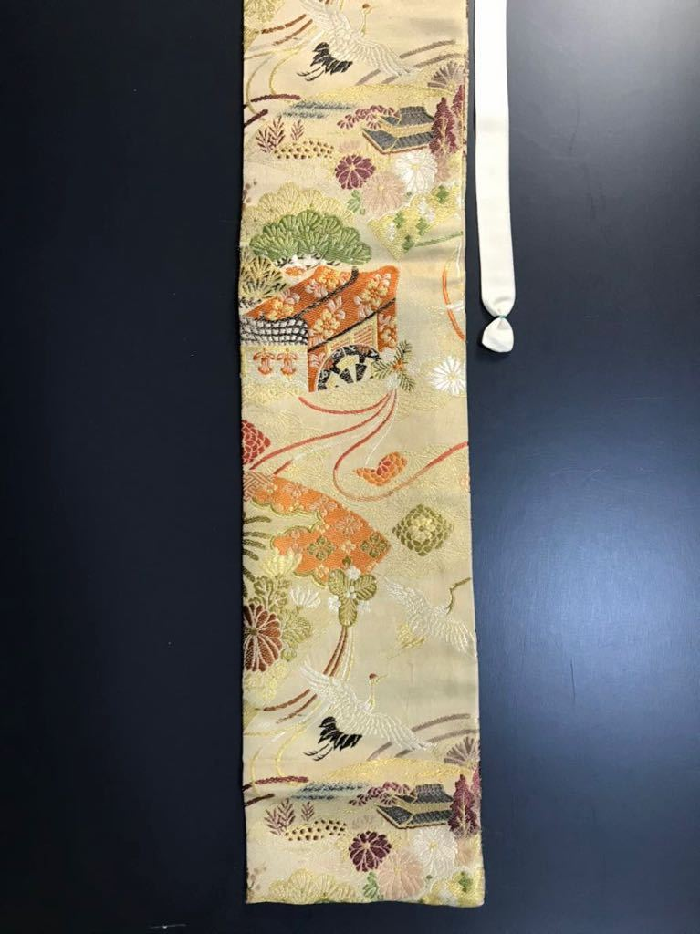 限定4本 日本刀 太刀 刀 刀袋 豪華 飛鶴華紋 御所車紋 職人ハンドメイド 100%正絹使用 一点物 E-15_画像4