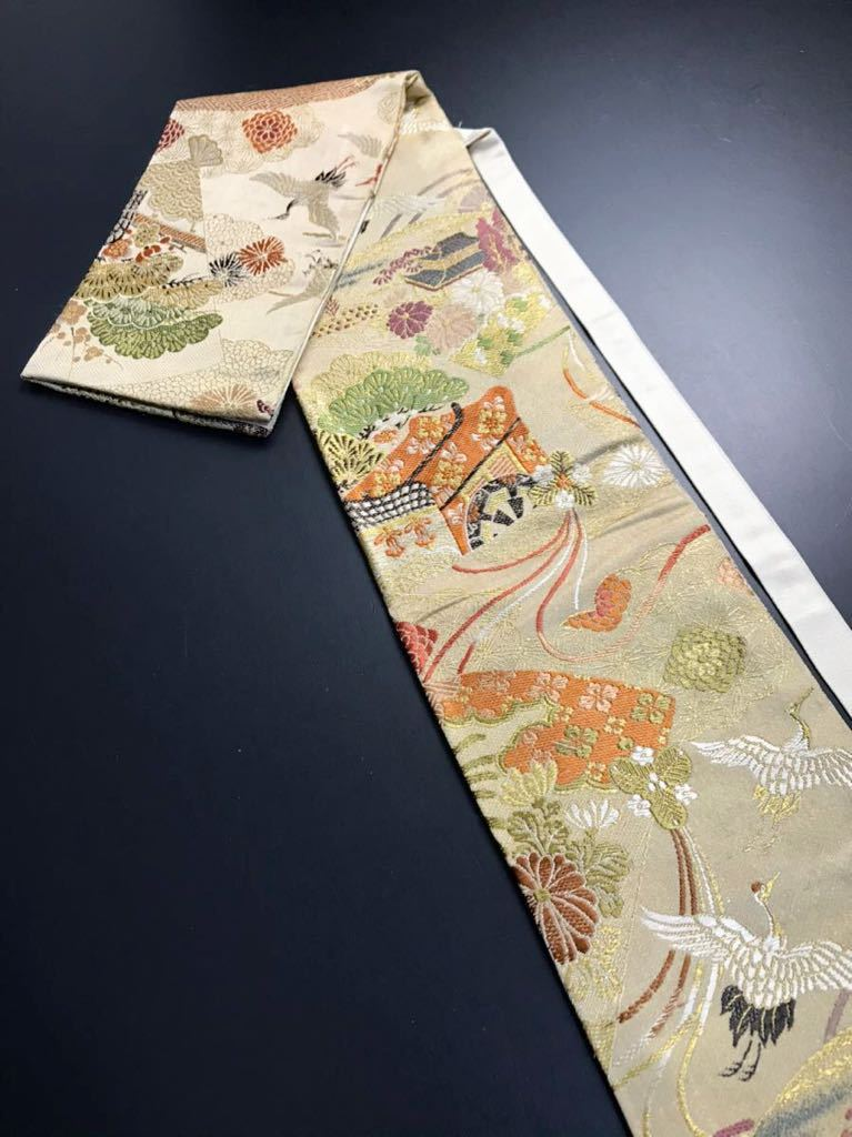 限定4本 日本刀 太刀 刀 刀袋 豪華 飛鶴華紋 御所車紋 職人ハンドメイド 100%正絹使用 一点物 E-15_画像1
