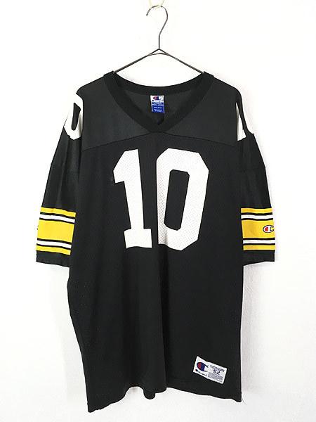 古着 90s USA製 Champion 「10 STEWART」 ナンバリング メッシュ フットボール Tシャツ XXL位 古着