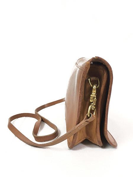 雑貨 古着 USA製 OLD COACH コーチ 本革 レザー フラップ ショルダー バッグ 中型 雑貨 古着_画像4