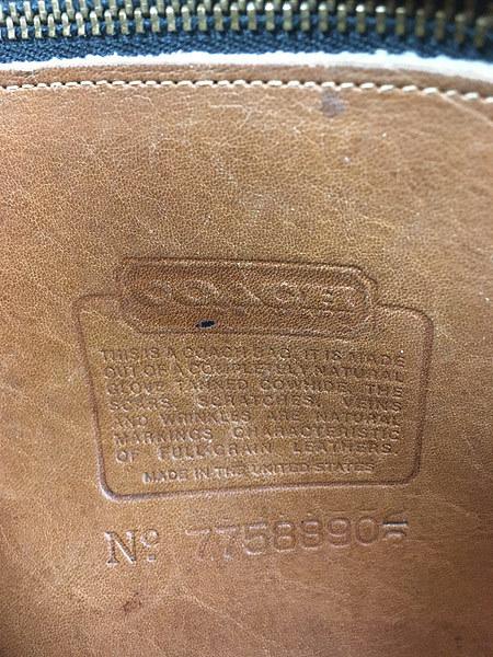 雑貨 古着 USA製 OLD COACH コーチ 本革 レザー フラップ ショルダー バッグ 中型 雑貨 古着_画像9