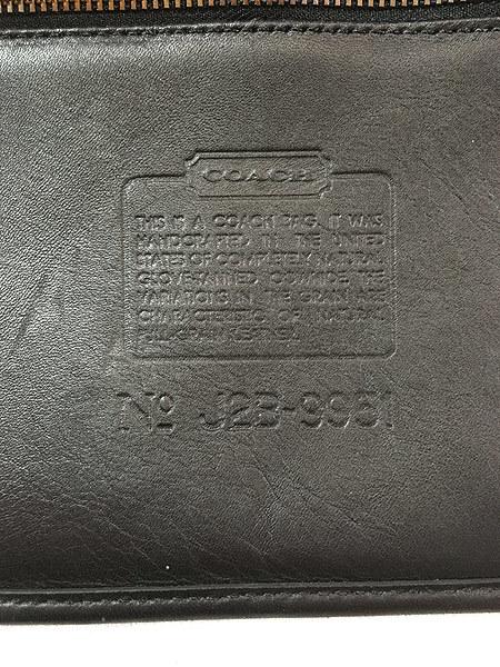 雑貨 古着 USA製 OLD COACH コーチ 本革 レザー フラップ ショルダー バッグ 中型 黒 古着_画像9