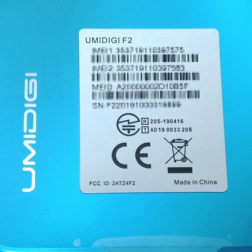 新品/SIMフリースマートフォン UMIDIGI F2_画像4