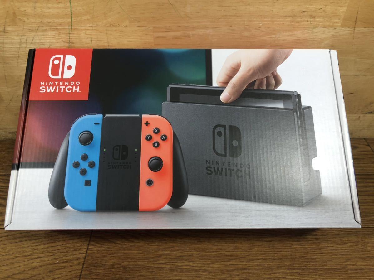21年5月まで保証有り 美品 Nintendo Switch ネオン ニンテンドー スイッチ 本体 Switch本体 任天堂 ネオンブルー ネオンレッド