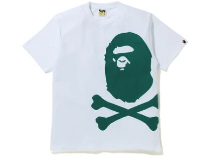 A BATHING APE ★ BAPE ★ BIG APE ★ CROSSBONE ★ GREEN PIGMENT TEE ★ JP SIZE L ★ BRAND NEW_画像1