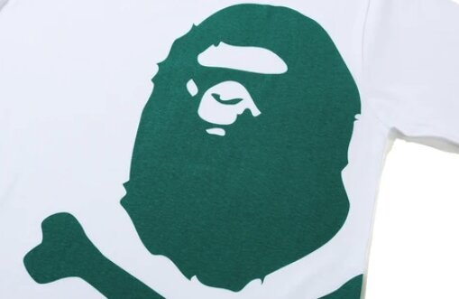 A BATHING APE ★ BAPE ★ BIG APE ★ CROSSBONE ★ GREEN PIGMENT TEE ★ JP SIZE L ★ BRAND NEW_画像2