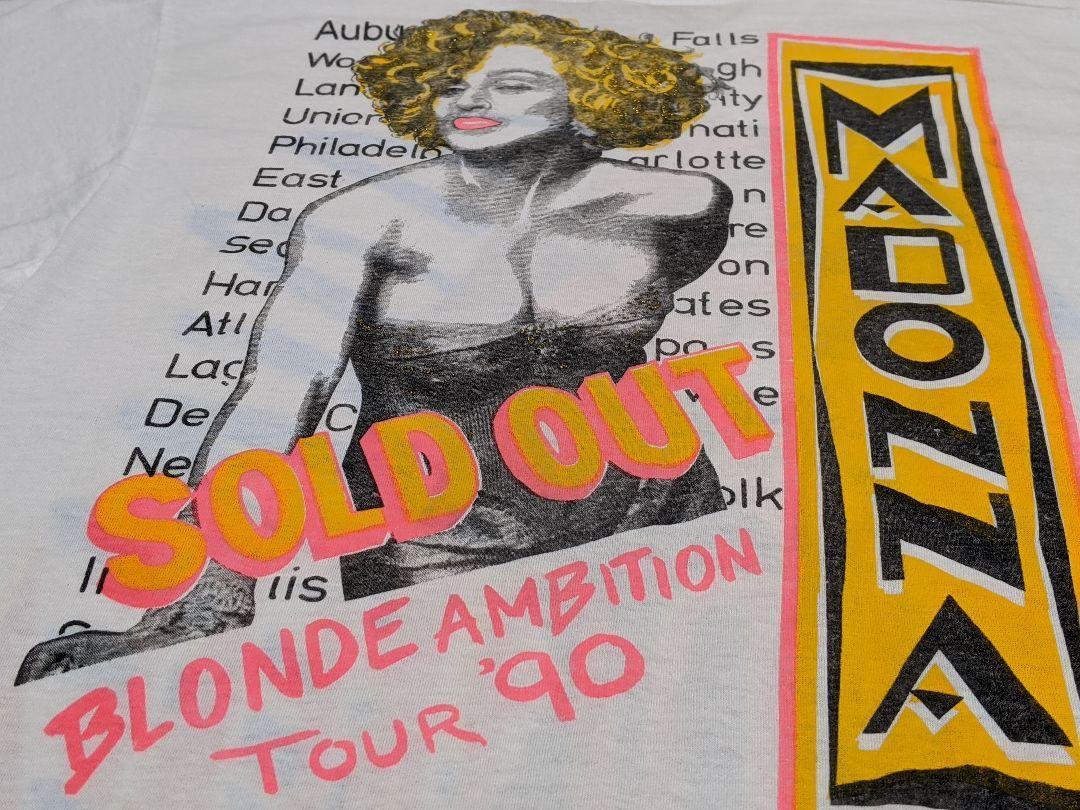 激レア!90's Madonna マドンナ 1990 ヴィンテージ ツアーTシャツ USA製_画像4