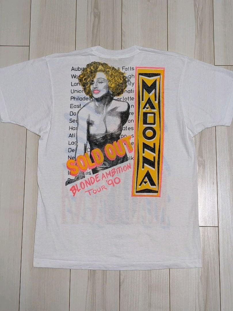 激レア!90's Madonna マドンナ 1990 ヴィンテージ ツアーTシャツ USA製_画像2