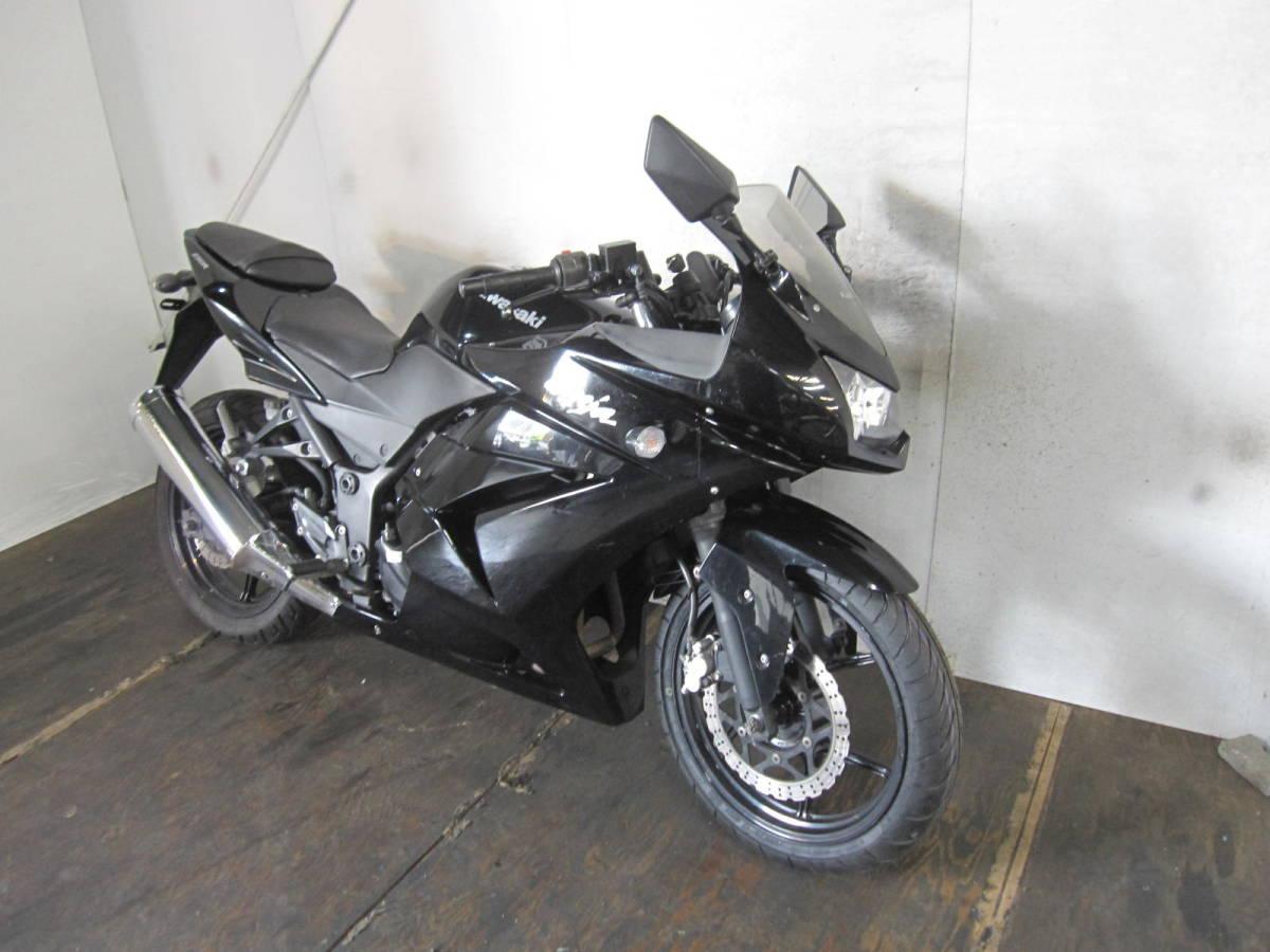 「KAWASAKI NINJA250R EX250K 黒 ノーマル F新品タイヤ 29130km」の画像2