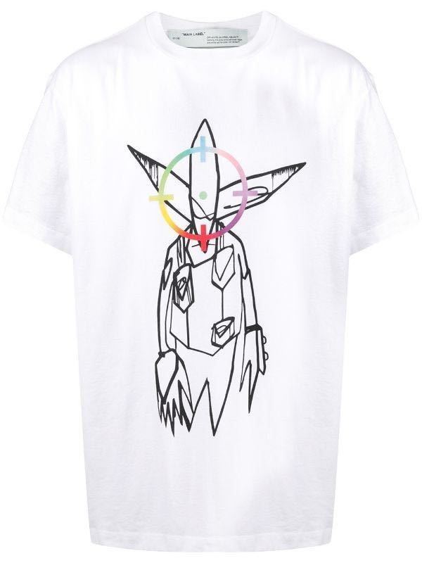 size S 20SS OFF-WHITE x FUTURA ALIEN T-SHIRT ARROW Tシャツ オフホワイトvirgil abroh 新品未使用