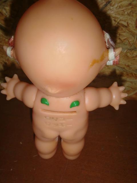 昭和レトロ! ワリコーリッキーキューピー ソフビ人形貯金箱_画像2