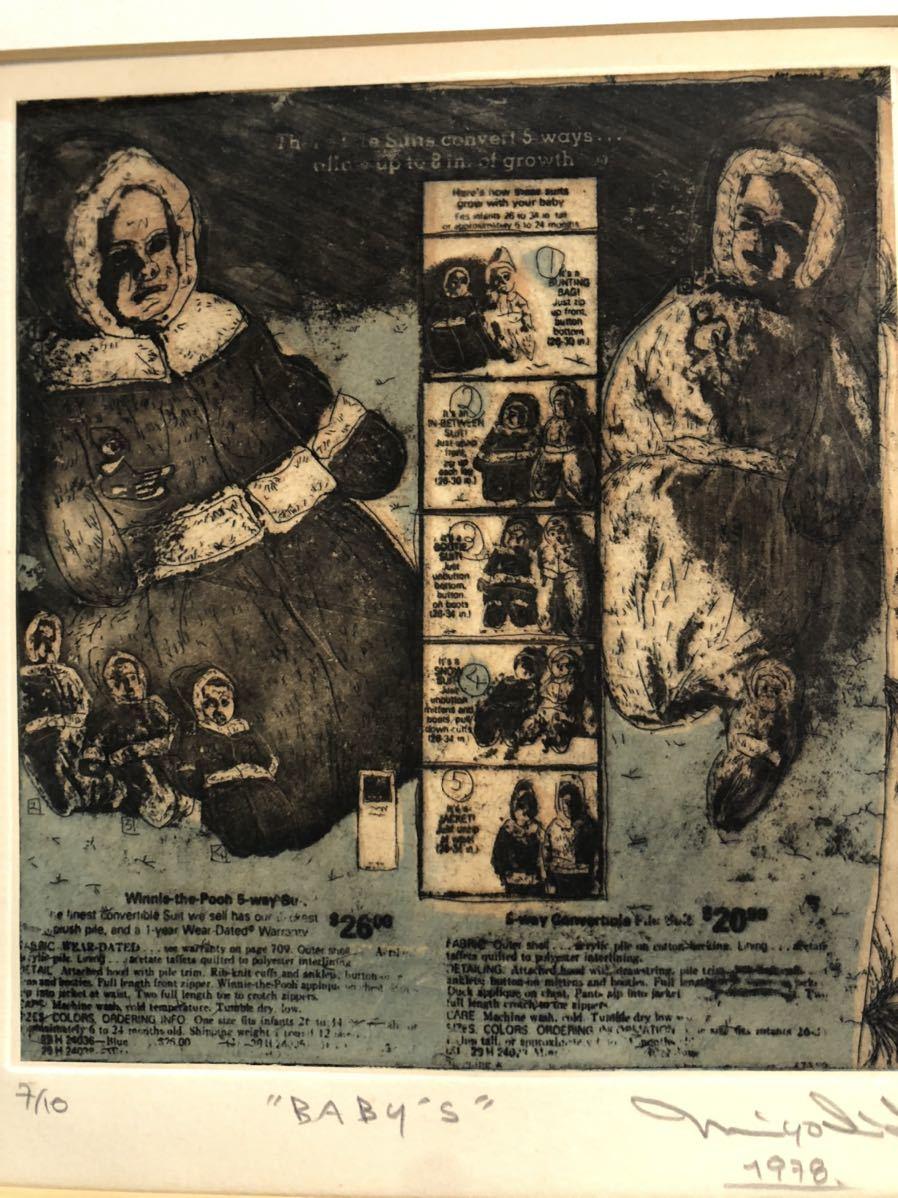 7/10 baby.s 1978年 リトグラフ 直筆サインあり 絵画 20.6.19.2_画像6