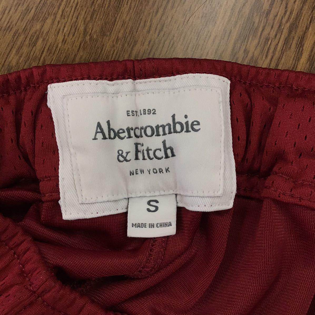Abercrombie&Fitch Sサイズ ショートパンツ レッド ジャージハーフパンツ ブランド古着 アバクロンビー&フィッチ 赤色 送料無料 F077