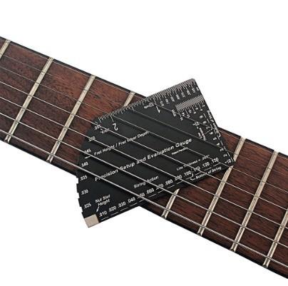 P1218 文字列 アクションゲージ 8 in 1 フレット 定規 測定 ツール 弦楽器 製作者 ツール ストリング ゲージ ギター_画像5