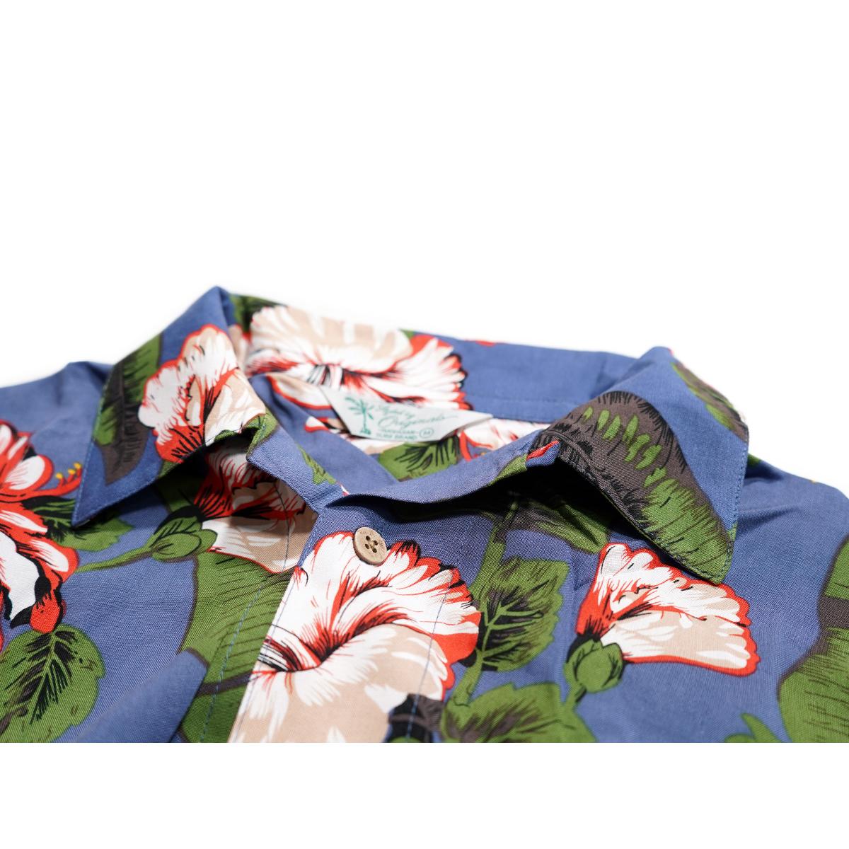 【新品】 アロハシャツ レーヨン フラワー柄■ 4Lサイズ(3XL) / グリーン緑42 ■大きいサイズ ボタニカル 花 オープンカラー b008_画像3