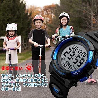 1.デジタル - ブルー 腕時計 子供用 腕時計 デジタル 防水 キッズ ウォッチ 男の子 多機能 ボーイ_画像7