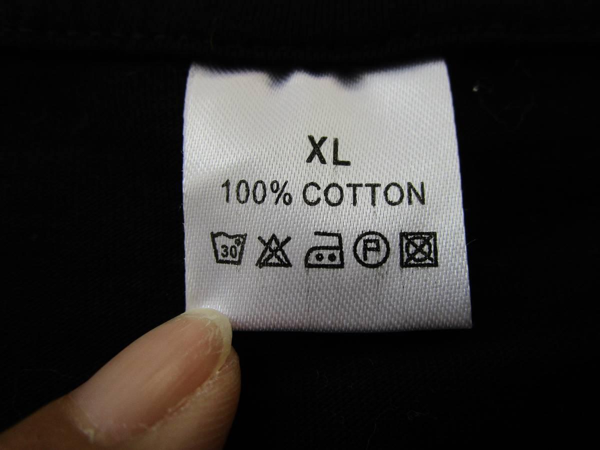 プリント 半袖 Tシャツ 黒 メンズ XL