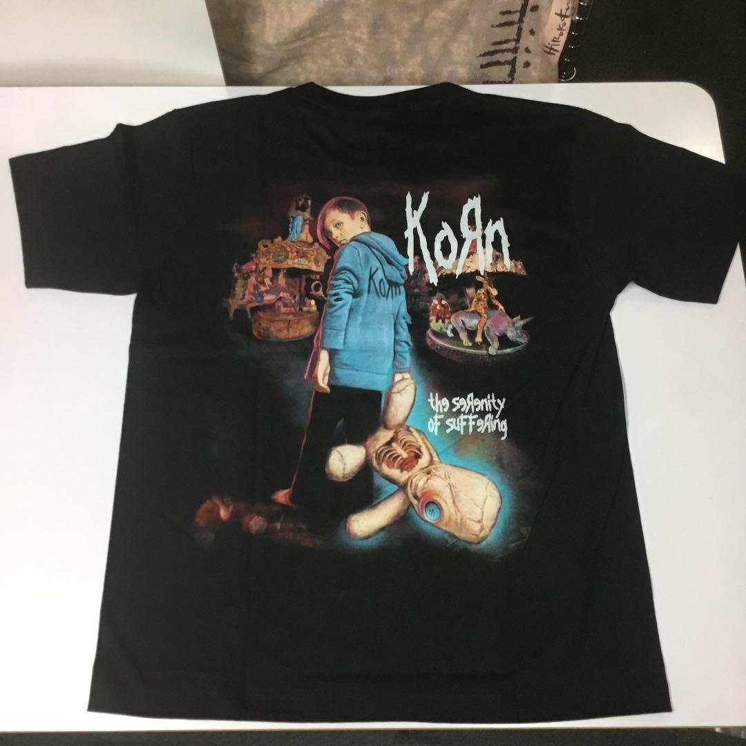 バンドデザインTシャツ Lサイズ コーン KORN ② SR6B1
