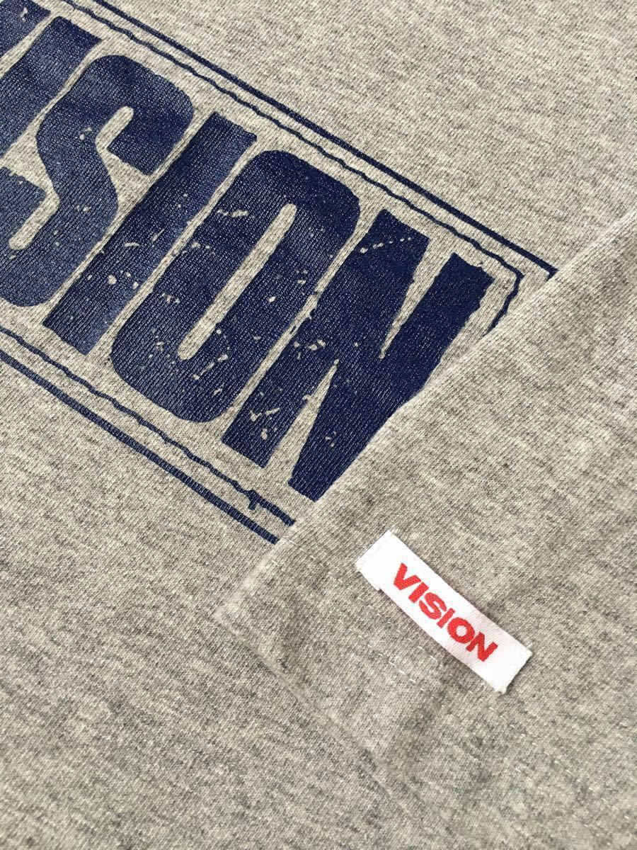 VISION Tシャツ グレー Mサイズ