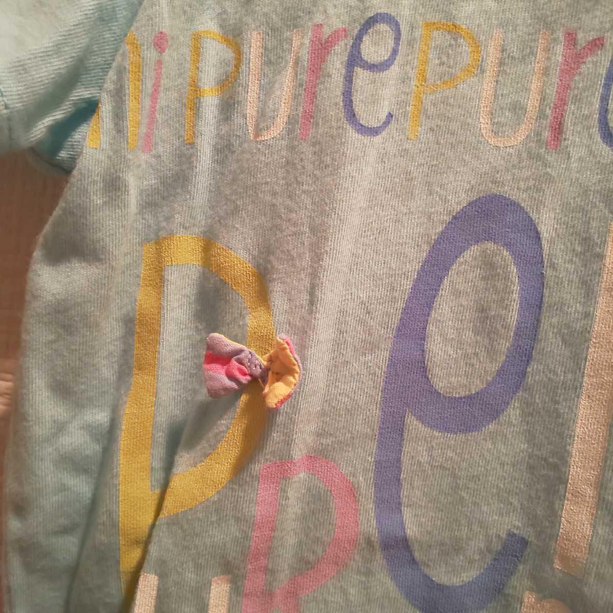 1円スタート! 130cm 半袖Tシャツ キッズ 女の子 半袖 夏物 保育園 幼稚園 私服 洗い替え ウサギ柄 akichan7777jp_画像5