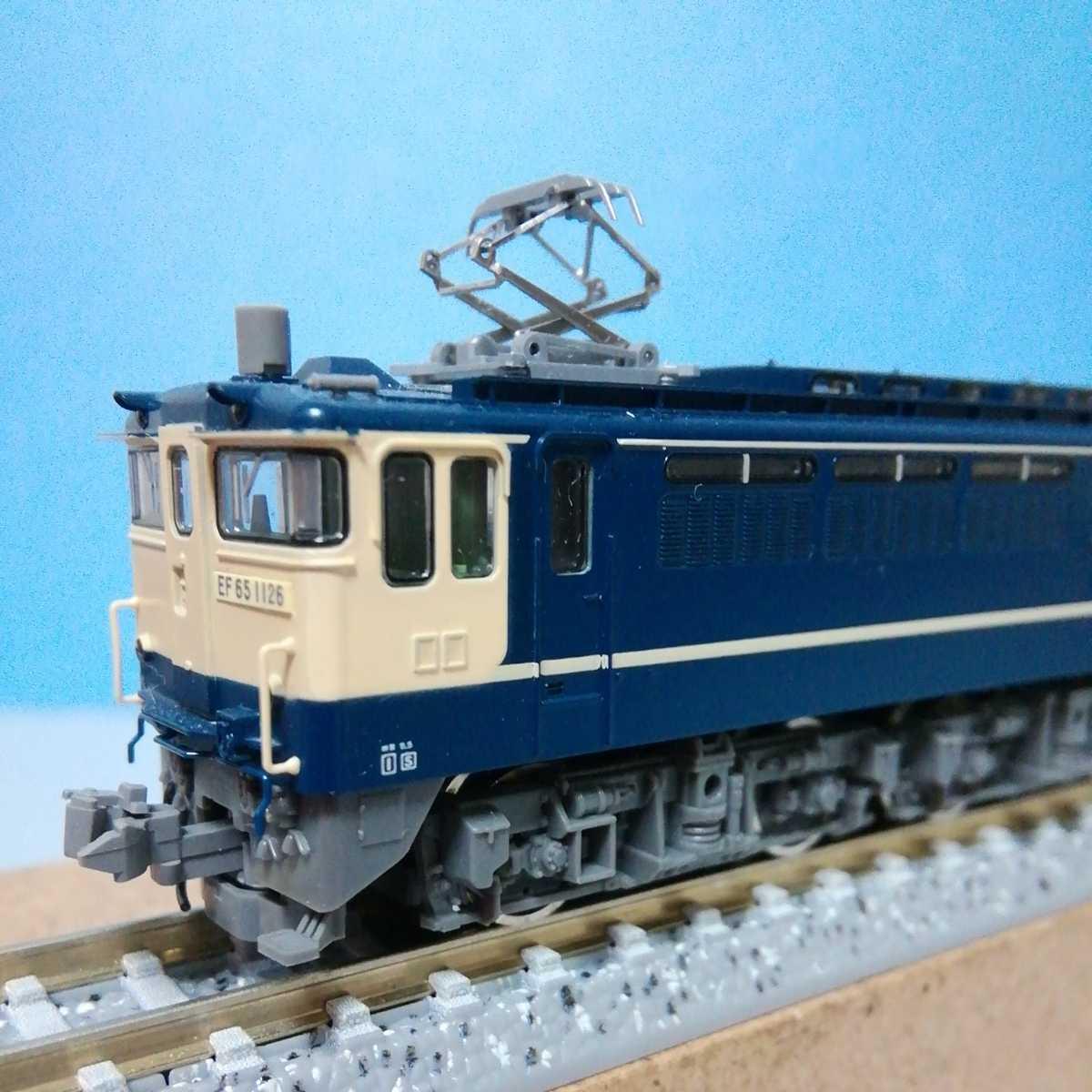 【送料無料】TOMIX 電気機関車 EF65 1000番台(1126号機) コレクター収集美品 動力良好 ライト点灯確認済み TNカプラー装着