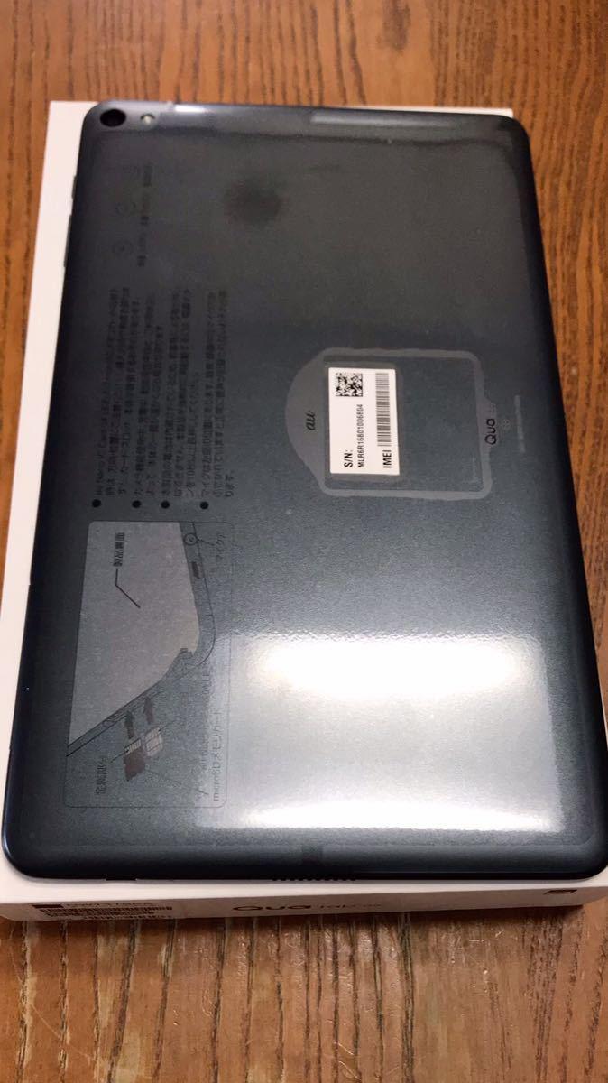 【新品未使用】Quatab 02 HWT31 チャコールブラック SIMフリー SIMロック解除 au aa023_画像2
