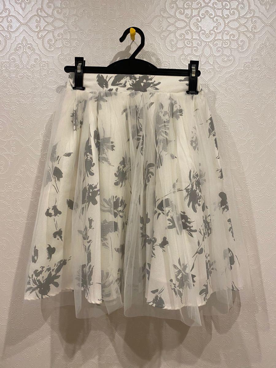 フレアスカート 花柄 花柄スカート