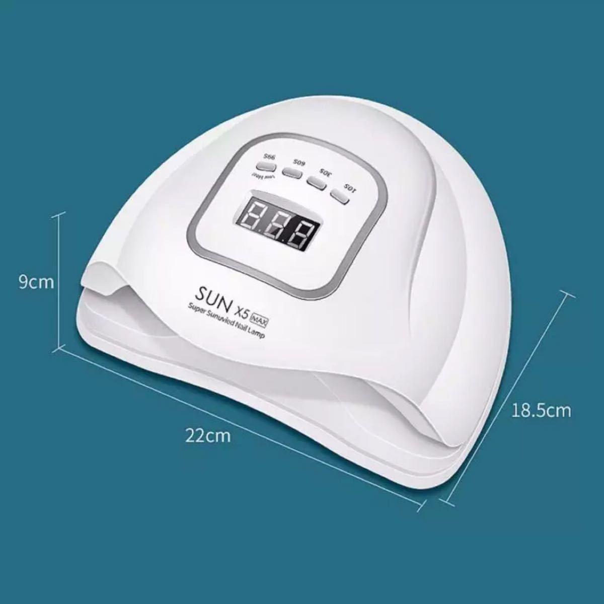120w 強化UV 45個 LED ライト UV+LED光源  ネイルドライヤー