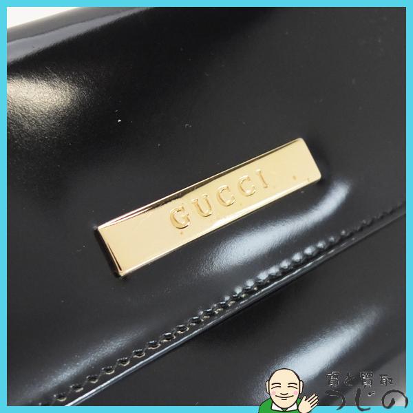 送料無料 グッチ Wホック長財布 エナメル ブラック GUCCI 美品 質屋 神戸つじの_画像7