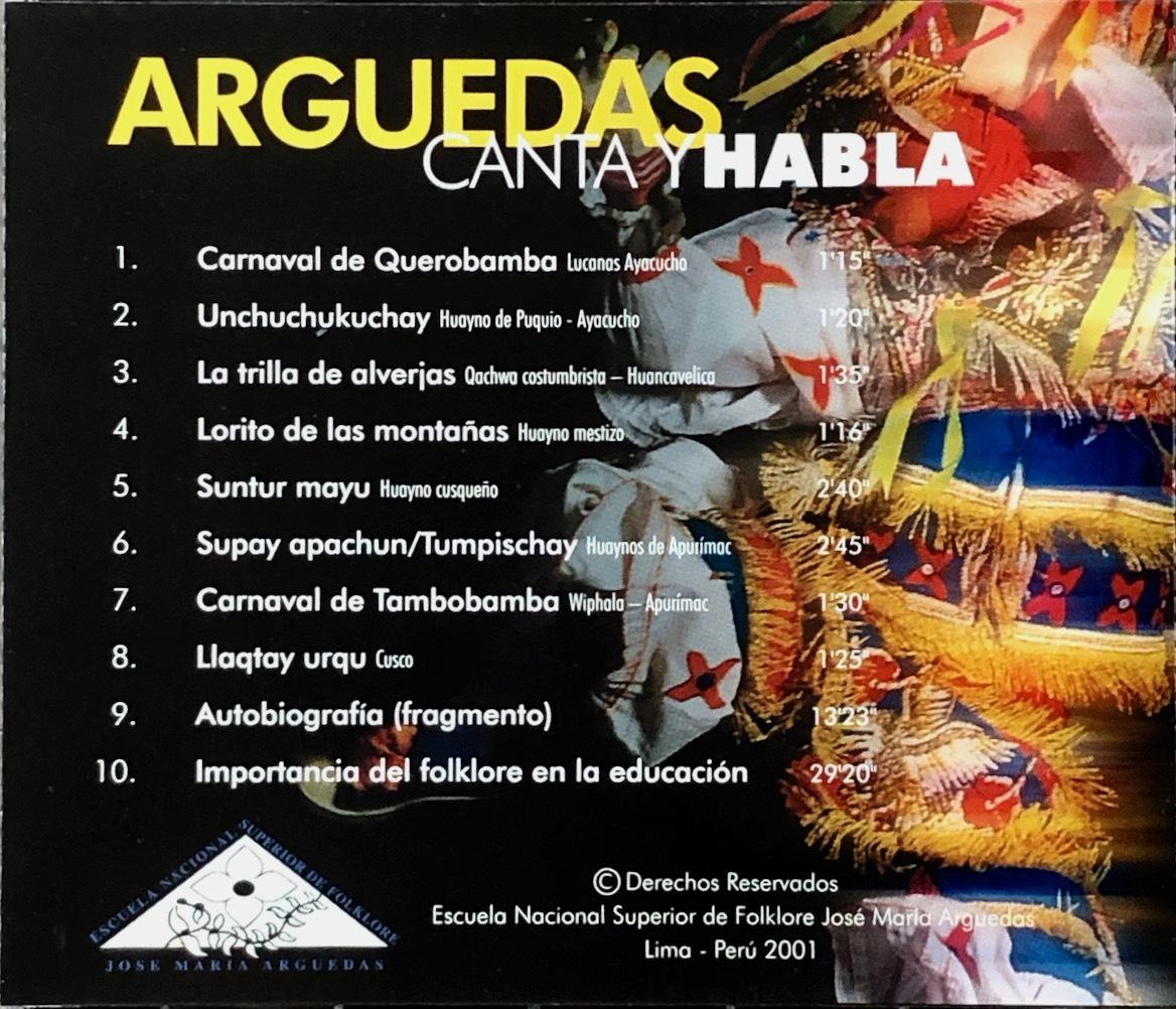 (Z2H)☆レア盤/ホセ・マリア・アルゲダス/Jose Maria Arguedas Canta Y Habla/民族音楽/フォルクローレ☆_画像2