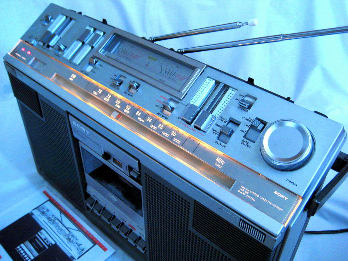 美品 SONY ソニー CFS-686 STEREOXYZ ステレオラジカセ 完全動作調整済品 Dolbyインジケ