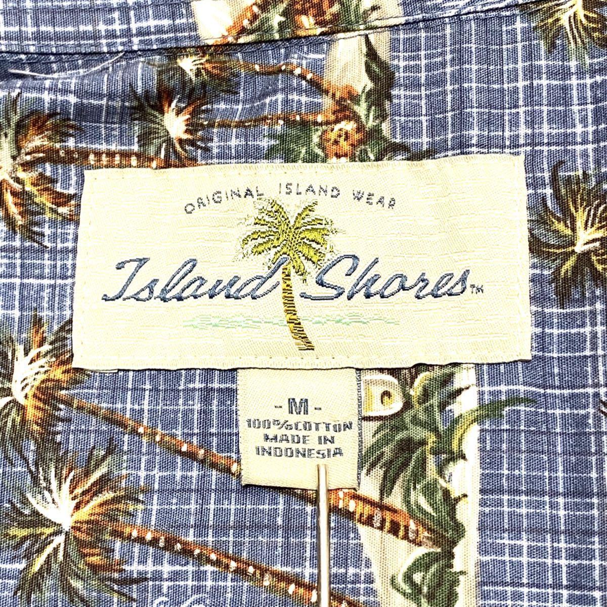 L相当 ISLAND アイスランド 半袖シャツ アロハシャツ 総柄 サーファー サーフボード アメリカ古着 メンズ 即決 ハワイアン
