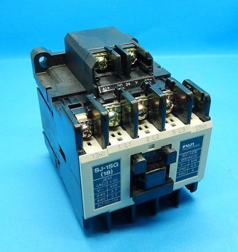 SJ-1SG コイルDC24V 2a 電磁接触器 富士電機 ランクA中古品_画像1