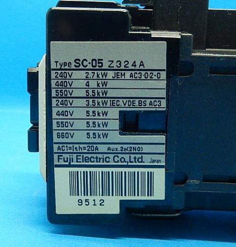 SC-05 コイルAC100V 2a  電磁接触器 富士電機 ランクB中古品_画像4