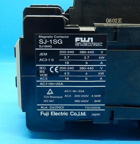 SJ-1SG コイルDC24V 2a 電磁接触器 富士電機 ランクA中古品_画像3