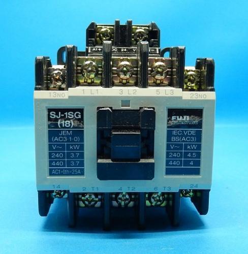 SJ-1SG コイルDC24V 2a 電磁接触器 富士電機 ランクA中古品_画像2