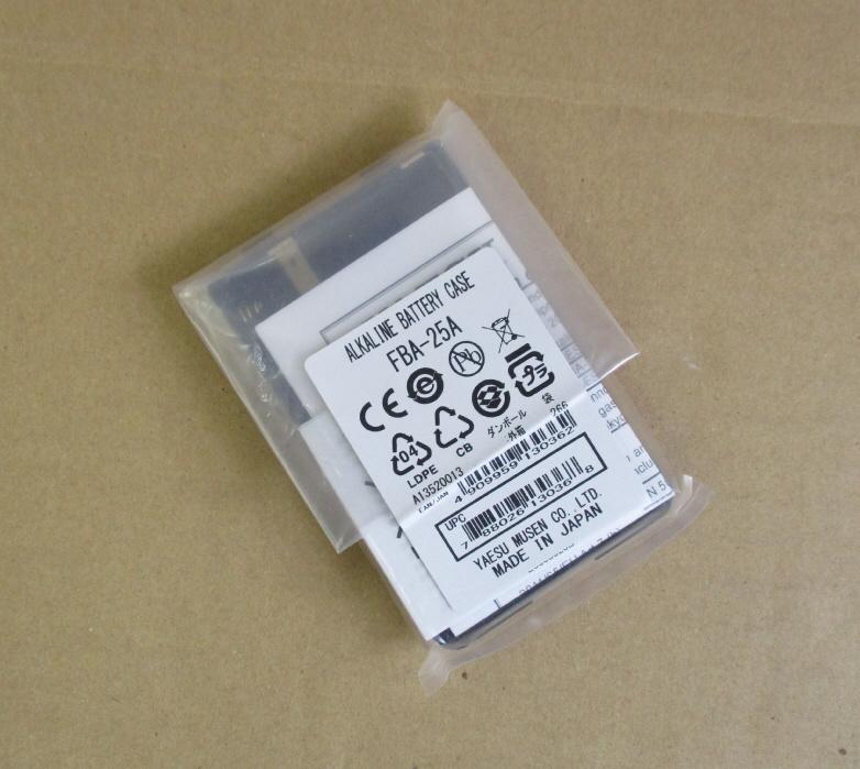 (ネコポス便送料無料)ヤエス FBA-25A乾電池ケース純正品FT-60,270,277用(FBA25A/FBA-35後継品)yaesu/(旧V.スタンダード)_画像2