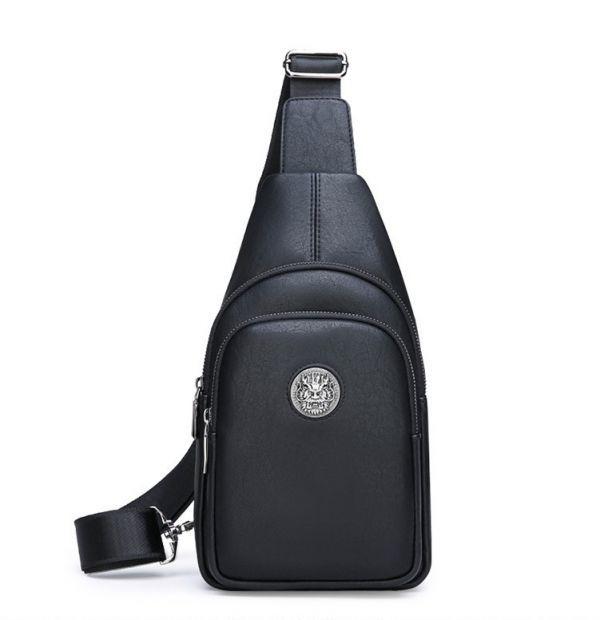 希少◆ボディバッグ メンズ 男性 ワニ柄ショルダーバッグ 防水革鞄 アウタドア大容量 ビジネス 紳士350_画像1