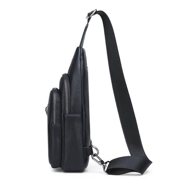 希少◆ボディバッグ メンズ 男性 ワニ柄ショルダーバッグ 防水革鞄 アウタドア大容量 ビジネス 紳士350_画像2
