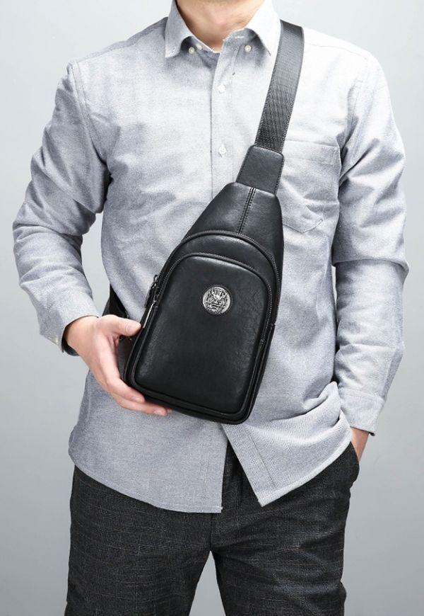 希少◆ボディバッグ メンズ 男性 ワニ柄ショルダーバッグ 防水革鞄 アウタドア大容量 ビジネス 紳士350_画像4