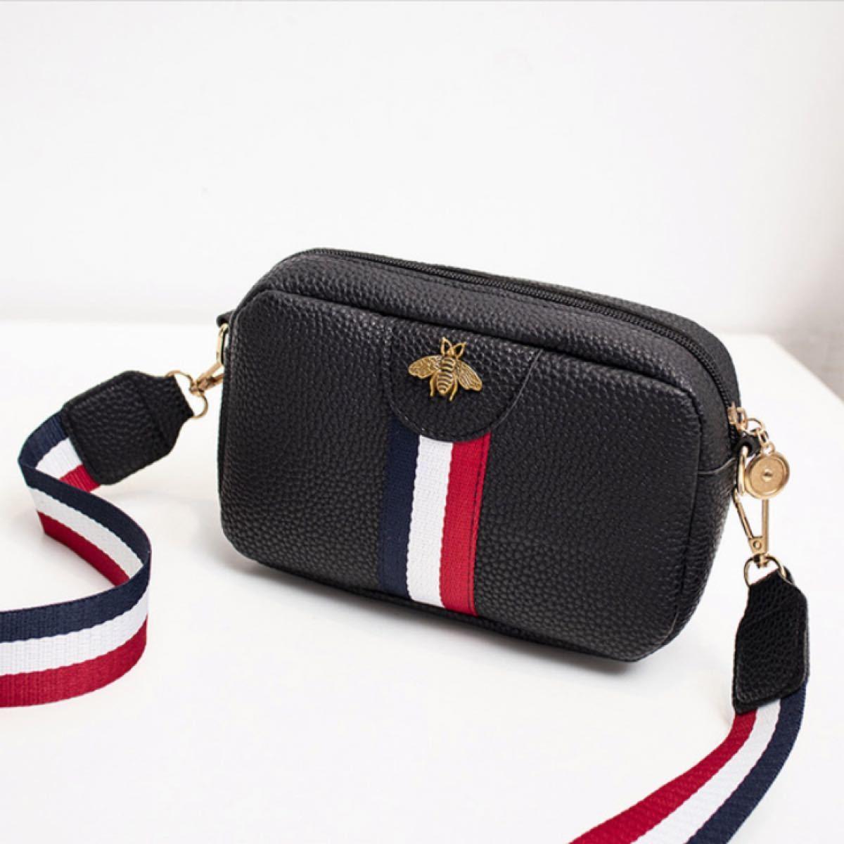 ショルダーバッグ ミニショルダー  黒 斜めがけ 韓国 軽量 化粧ポーチ 人気