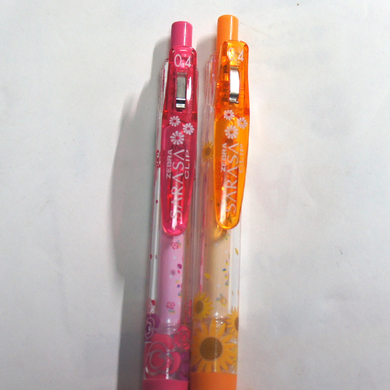限定 SARASA CLIP サラサクリップ フローリスト 0.4 花柄 2本 オレンジ ピンク JJS29-F サラサ クリップ ゼブラ ZEBRA
