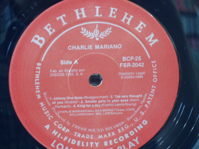 1773●LP(輸入盤)●チャーリー・マリアーノ Charlie Mariano_画像3