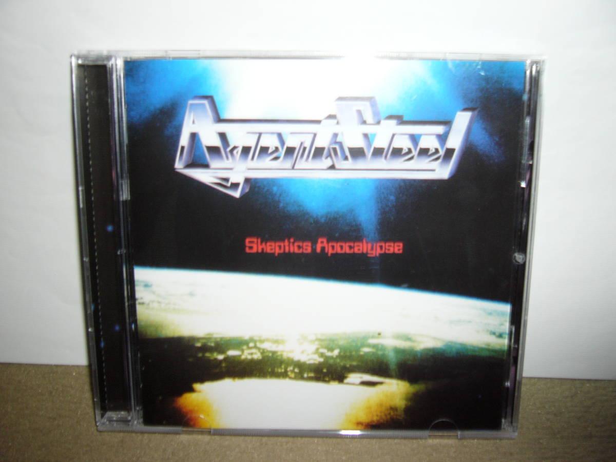 初期Power/Speed Metalルーツ的隠れ名盤 Agent Steel 傑作1st「Skeptic Apocalypse」ボーナス楽曲付リマスター仕様盤 輸入盤中古。_画像1
