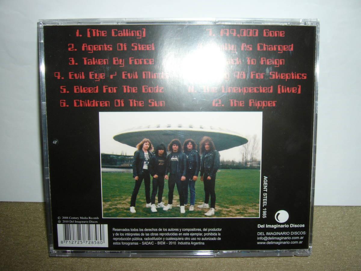 初期Power/Speed Metalルーツ的隠れ名盤 Agent Steel 傑作1st「Skeptic Apocalypse」ボーナス楽曲付リマスター仕様盤 輸入盤中古。_画像3