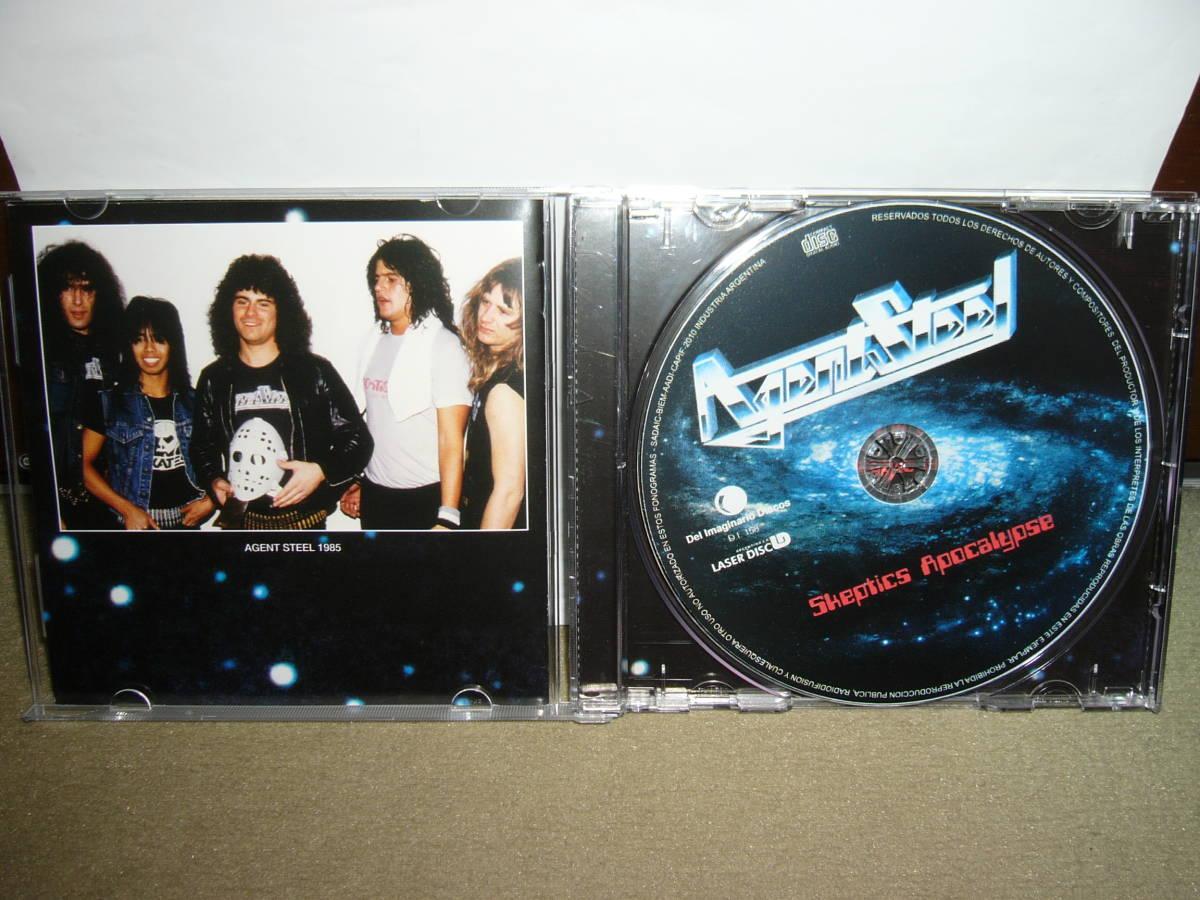 初期Power/Speed Metalルーツ的隠れ名盤 Agent Steel 傑作1st「Skeptic Apocalypse」ボーナス楽曲付リマスター仕様盤 輸入盤中古。_画像2