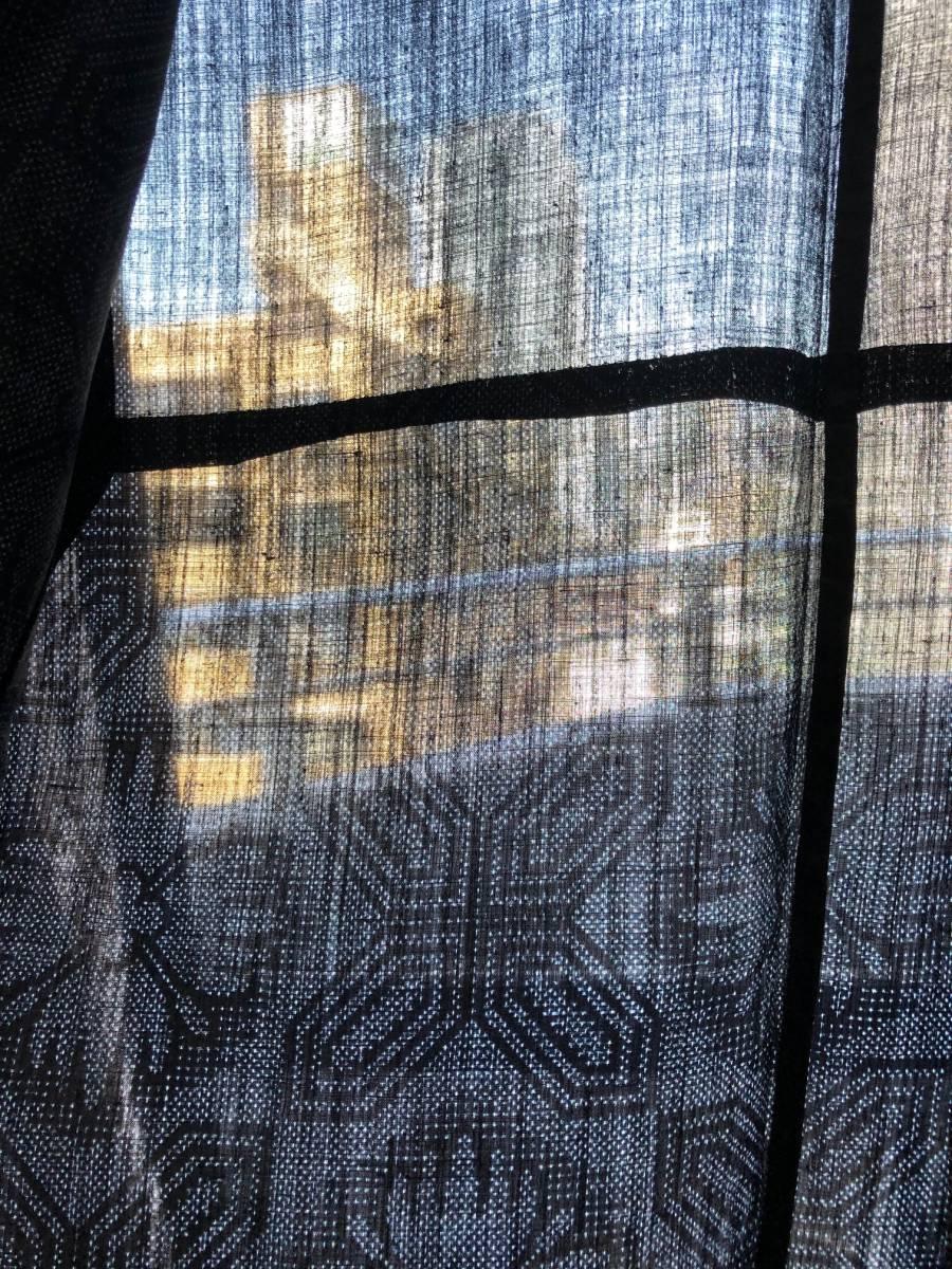 ☆絶品!重要無形文化財本場宮古上布_景色が透けて見える薄さです