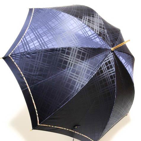 新品即決◆BURBERRY バーバリー 長傘 雨傘◆タグ付/女性用/レディース/トーナルチェック/ノバチェック/ネイビー