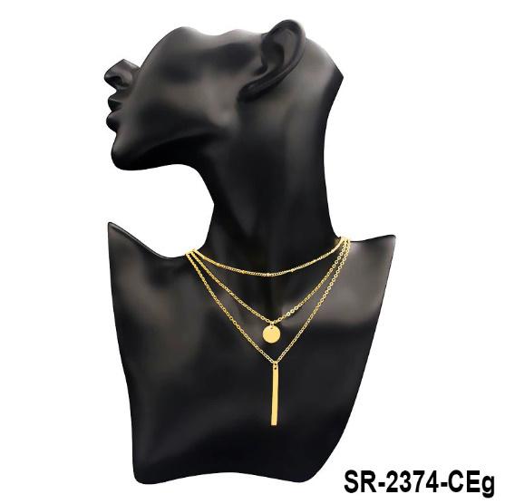 多層ネックレス&ペンダント ゴールドシルバーカラーロングチェーン 女性ペンダントネックレスファッションジュエリーコリアーファムB911_画像3